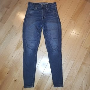 American Eagle super high rise jegging jeans sz 4
